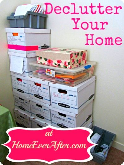 Decluttering Your Home guide from Home Ever After.  http://www.homeeverafter.com/declutter-your-home/  #HomeEverAfter
