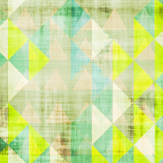 8 x 8 print, neon art, geometric print, modern painting, mid century art, abstract art, modern art op Etsy, 15,22€