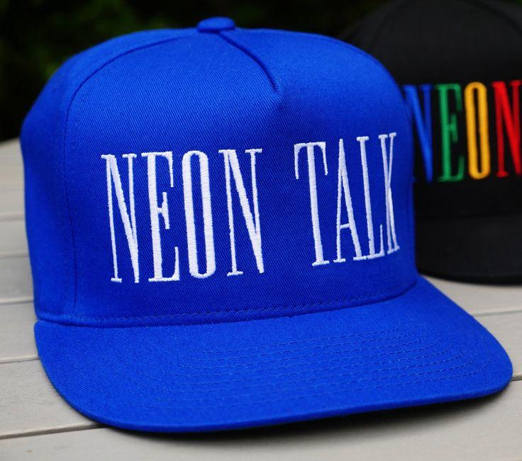 """Clean"" Neon Talk Cap"