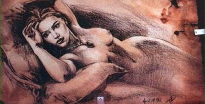 Interesting story about her painting nude Rose <p2>