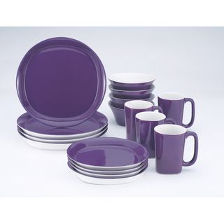 Rachael Ray Round & Square Purple 16-piece Set | Overstock™ Shopping - Great Deals on Rachael Ray Casual Dinnerware