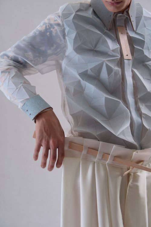 An imaginative mix of origami, architecture and fashion: Crematorie by #YungWong