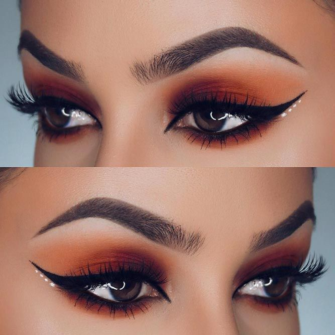 Insanely Beautiful Cat Eye Makeup Ideas ★ See more: https://makeupjournal.com/cat-eye-makeup-ideas/ #nails