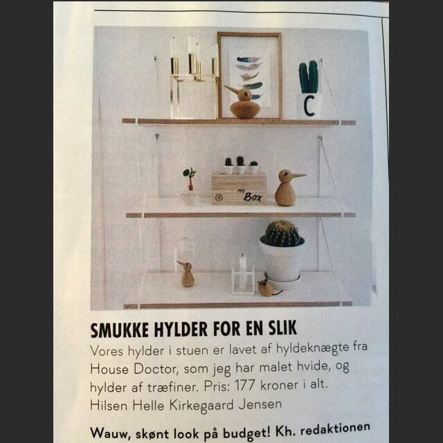 This is a beautiful DIY from a typical Danish home. The shelves are a DIY project and I just accidentally saw it with my feathers on it, in the interior magazine: Bolig magasinet in January 2017. Do you like it ?