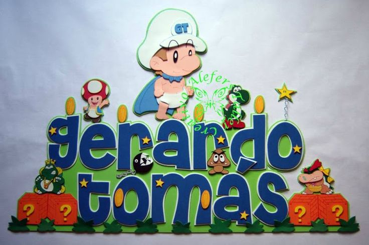 Banner (letrero) en foami, Mario Bross bebe...=)