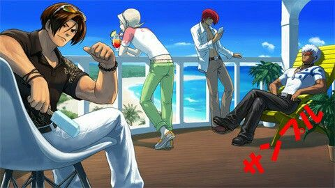 King of Fighters Protaginist- Kyo, Ash, Iori and K'
