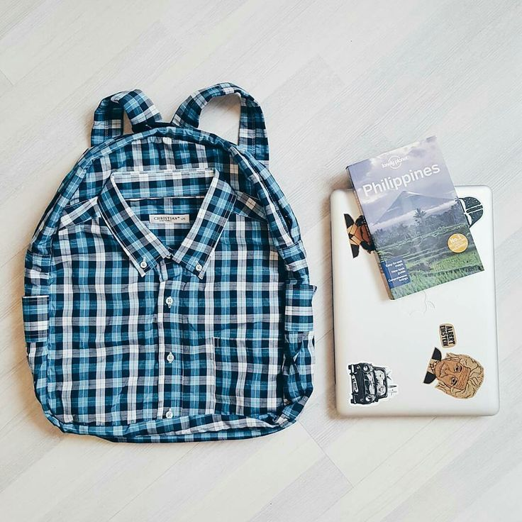 Hipster backpack plaid shirt boho bohemian grunge
