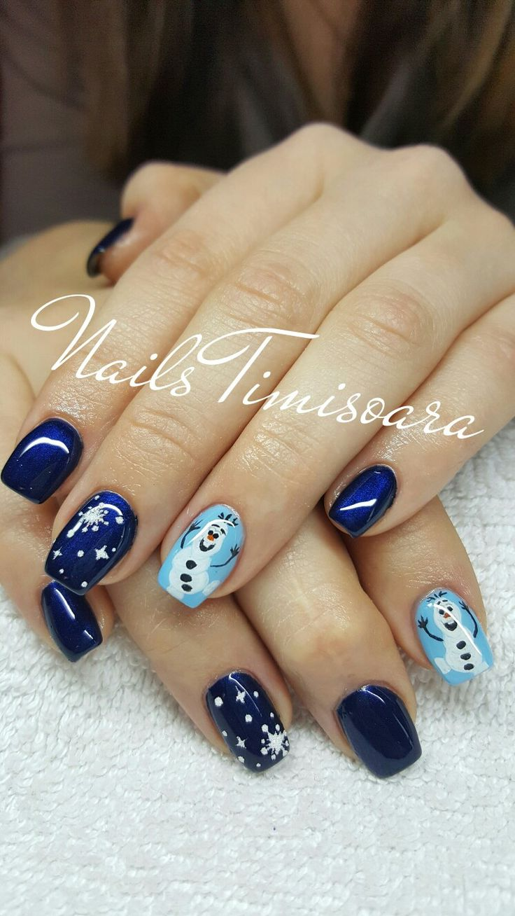 #olaf #nails #winter #christmas