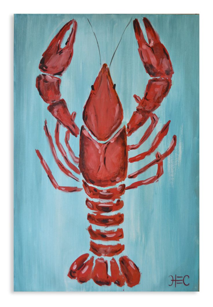 Louisiana Crawfish painting (original). $175.00, via Etsy.