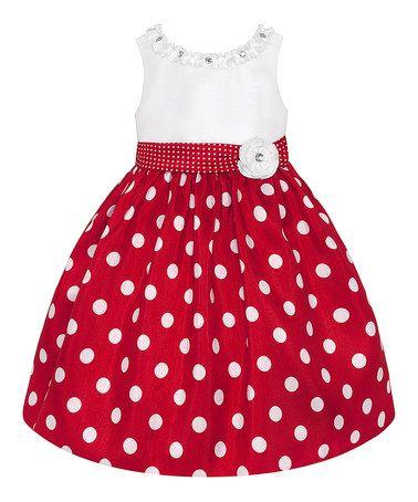 Loving this Red & White Polka Dot Dress - Toddler & Girls on #zulily! #zulilyfinds