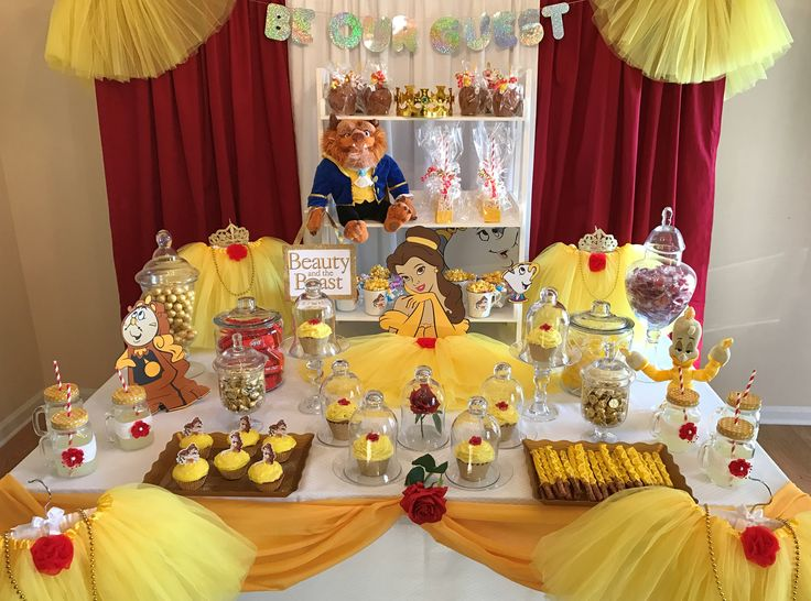 40 Best Party Beauty And The Beast Images On Pinterest Birthday Awesome Belle Party Decoration Ideas