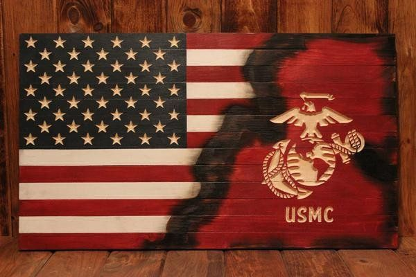 United States Marine Corps flag with half Americana Flag. Perfect gift for the active, reservist, orMarineCorps veteran. The Marines play a large roll in pro