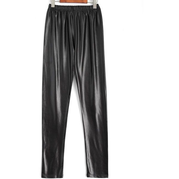 Plus Size Faux Leather Pencil Pants (52 ILS) ❤ liked on Polyvore featuring pants, women's plus size pants, fake leather pants, faux leather pants, plus size faux leather pants and leather look pants