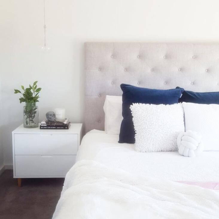 Our grey linen bedheads are back in stock!!!