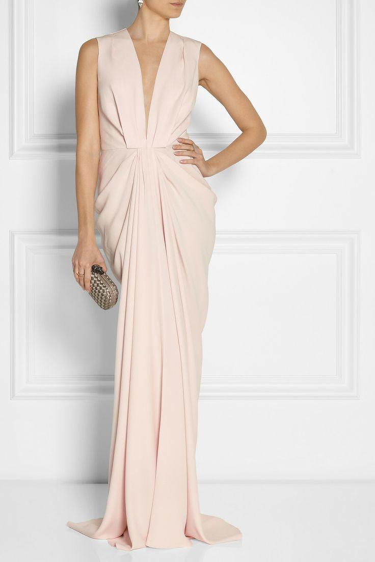 Thakoon|Draped matte-satin gown.