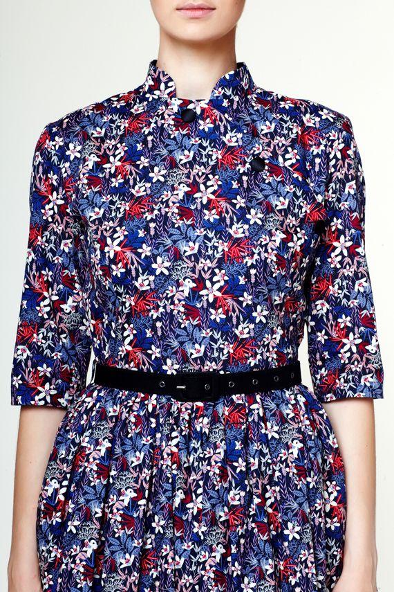 nike blazer liberty print blouse