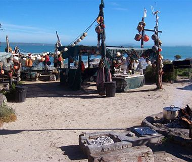 Die Strandloper Restaurant, Langebaan, South Africa - one of the best sea food / barbecue restaurants in South Africa....literally on the beach. This is definitely a bucket list item when you visit the West Coast. Contact details : 083 22 77 195 or  +27 (0)22 77 22 490 	 	 info@strandloper.com