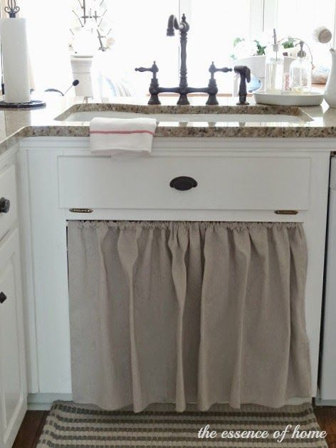 The Essence Of Home Replace Cabinet Doors In Front Of Sink With Curtains Softens The Space