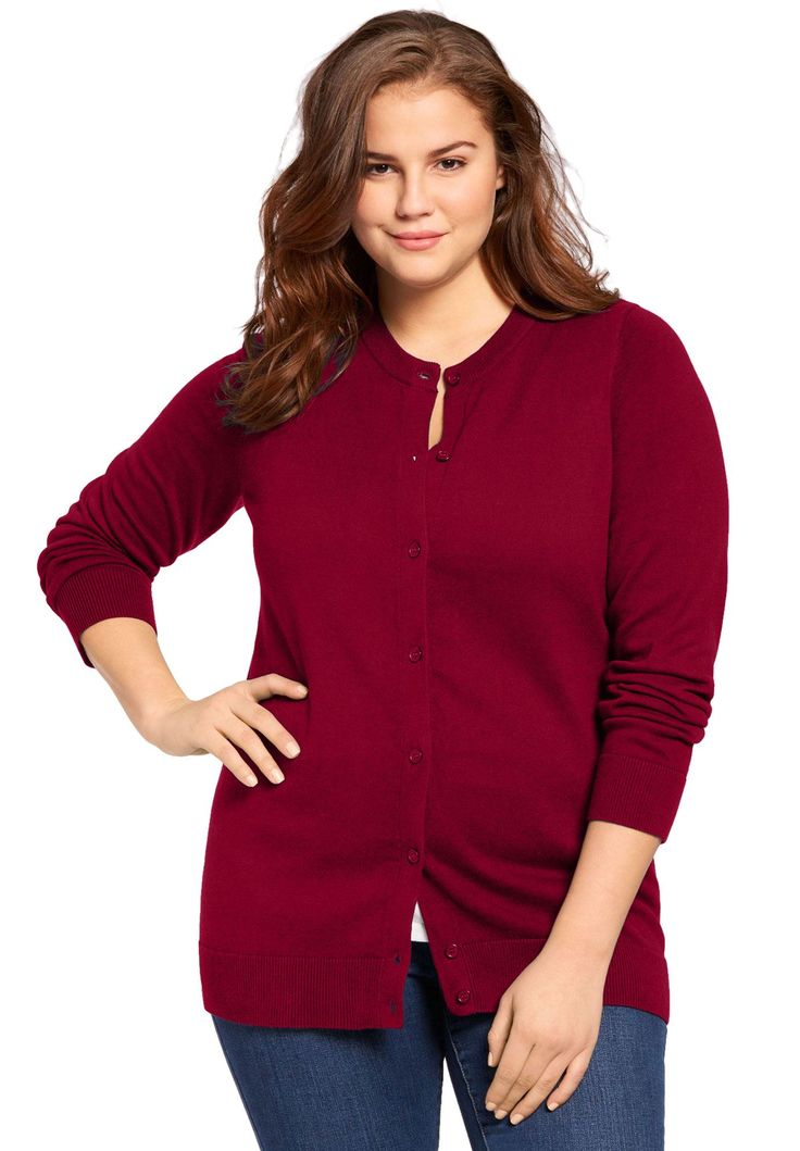 Perfect Long Sleeve Cardigan – Women's Plus Size Clothing
