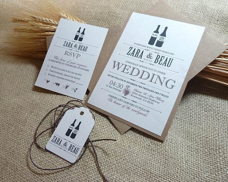 25+ best ideas about winery wedding invitations on pinterest, Wedding invitations