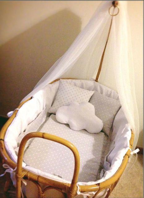 Oltre 25 fantastiche idee su culla di vimini su pinterest dormire con il bambino - Sabanas moises mimbre ...