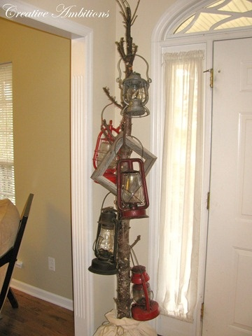 love this idea for all my old lanterns! 1 old branch + old lanterns = fabulous…