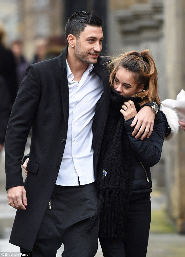 Close up:The 24-year-old beauty wrapped up warm against the northern chill as she strolled the streets arm-in-arm with her hunky new boyfriend, 25, as they continue with the nationwide Strictly tour