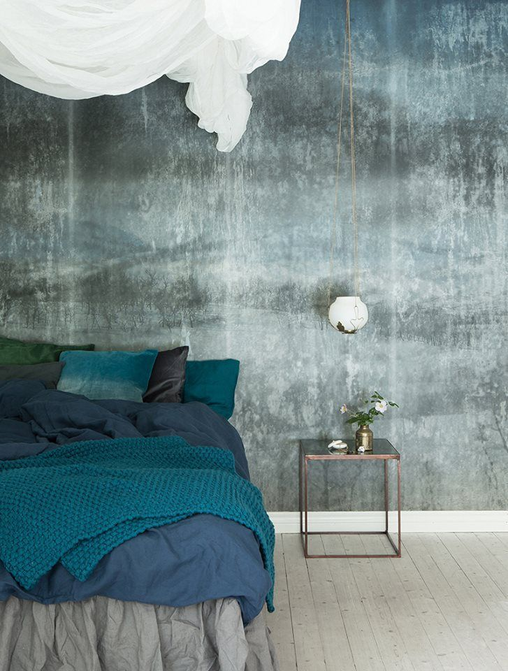 scandinavian surface wallpaper lost landscape bedroom