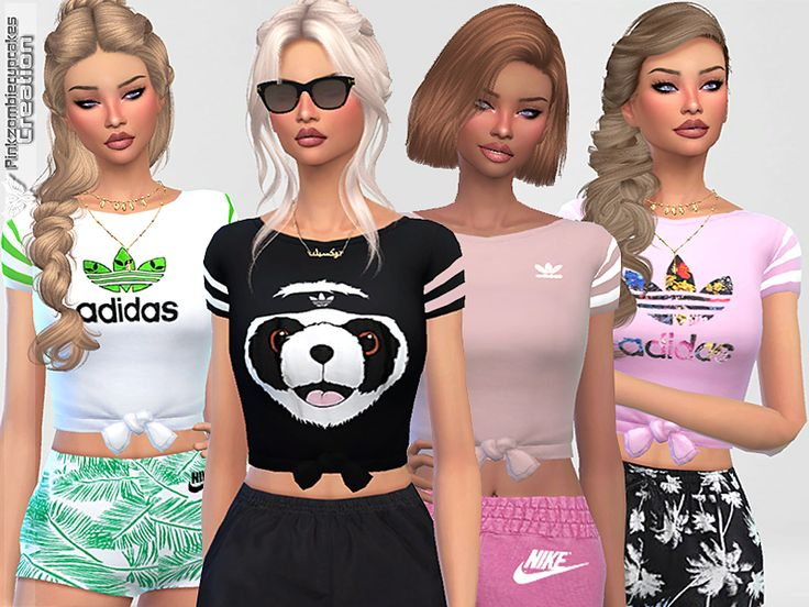 -20 Adidas tees. Found in TSR Category 'Sims 4 Female Everyday'