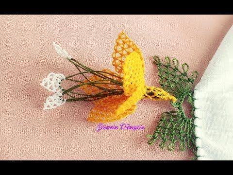 İğne oyaları Çember kenarı Kabak çiçeği modeli sesli anlatımlı video - YouTube