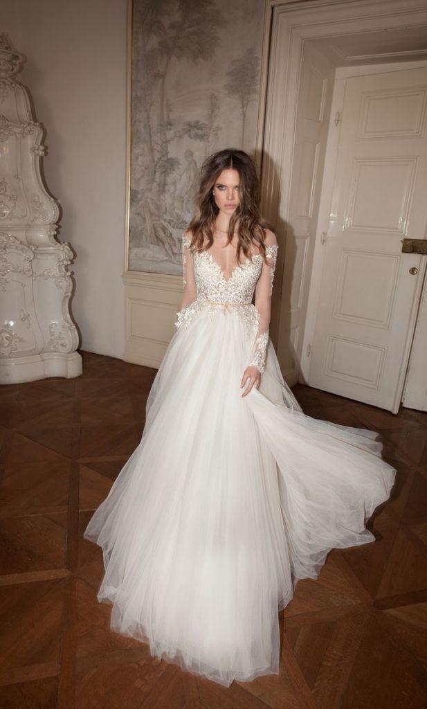 20 vestidos de novia con manga larga perfectos para las bodas de invierno