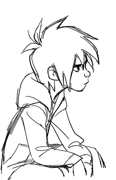 anime boy sketch. I think this is supposed to be Hiro Hamada from Big Hero 6 but I think it could be anyone to be honest