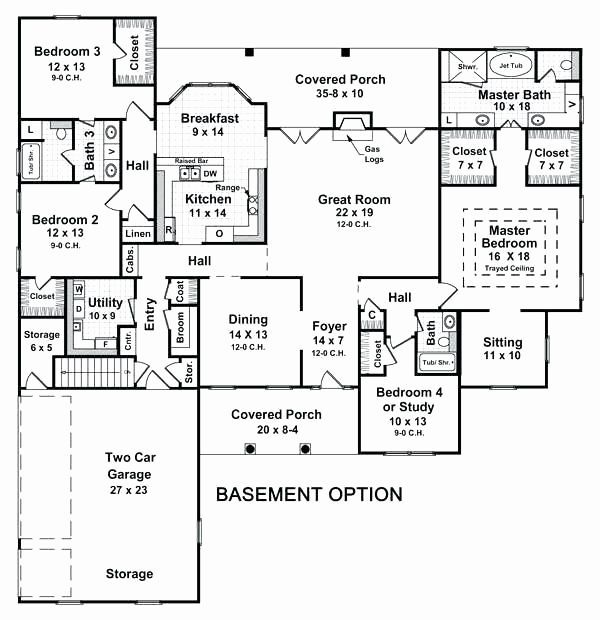 Ranch House Plans With Basement Inspirational 4 Bedroom Ranch House Plans With B Basement Bedroom House In 2020 Ranch House Plans Basement House Plans Ranch House