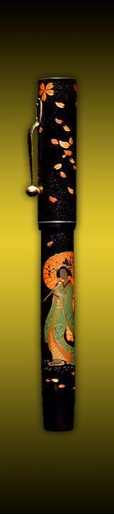 Namiki Pen Geisha Velvet Pens Paris, pens shop specialised in rarest Namiki Pilot Paris France
