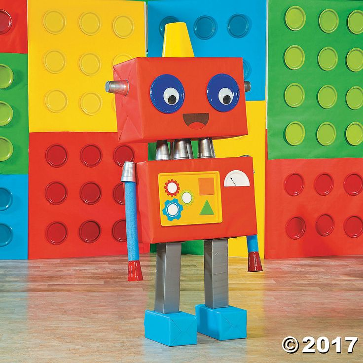 Geared Up for God VBS DIY Robot Prop Idea - OrientalTrading.com