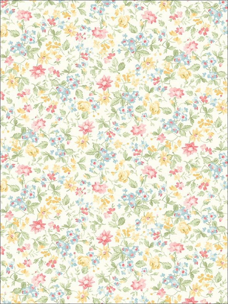 Delicate floral wallpaper