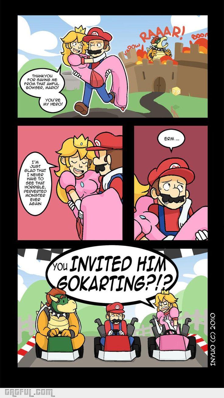Hahahaha Mario Kart