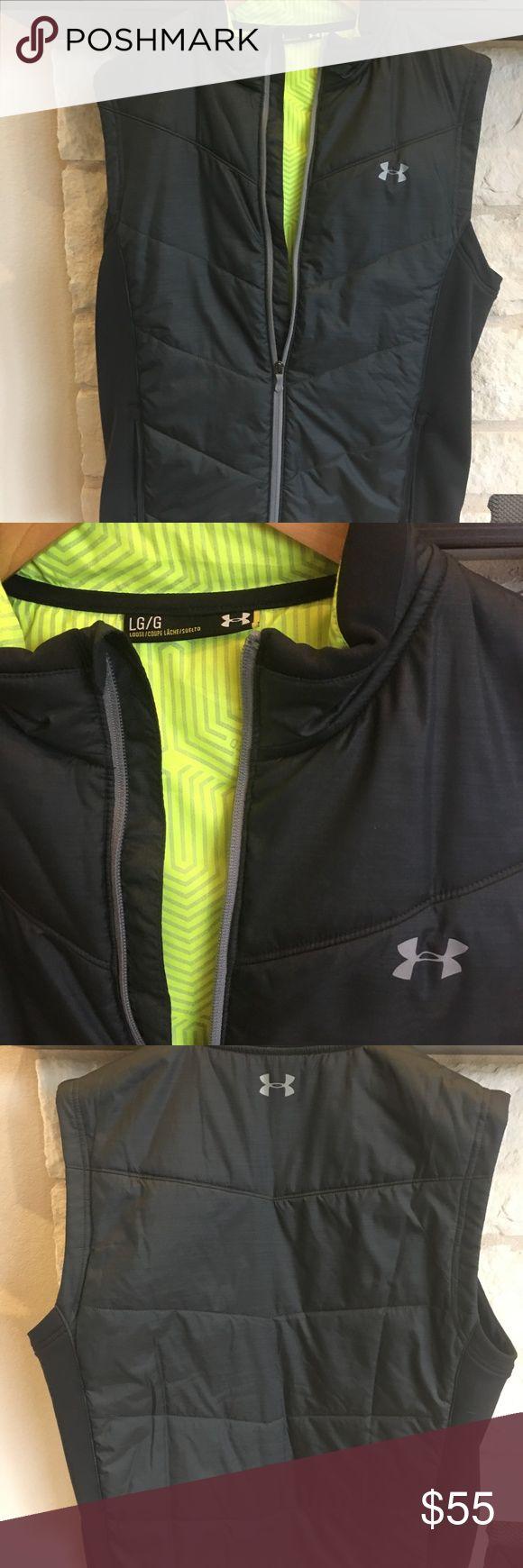 Mens Under Armour Vest, Large Mens Under Armour Vest, Large, Dark Gray Under Armour Jackets & Coats Vests