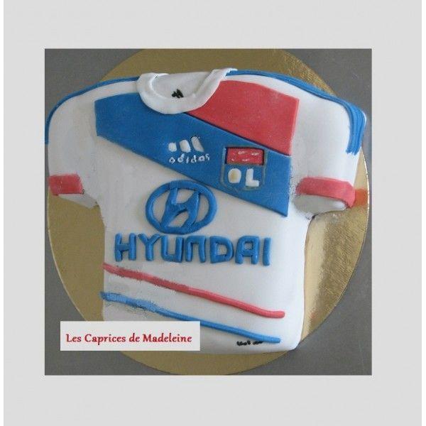 le gâteau foot OL olympique lyonnais