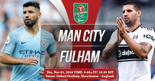 Manchester City Vs Fulham Manchester City Manchester England