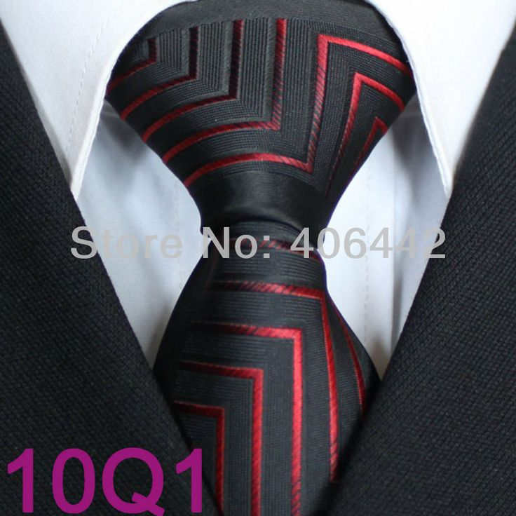 YIBEI Coachella ties, Men's Tie New Design Bordered Black With Dark Red Stripes Microfiber Necktie Fashion SLIM Tie $9.90