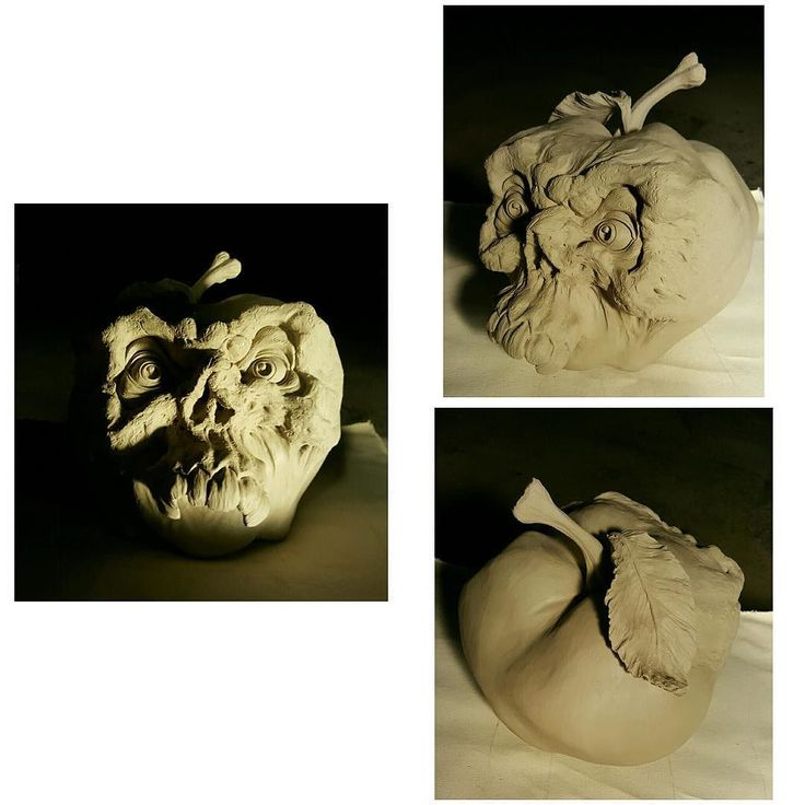 """My brother's """"Bad Apple"""" sculpture. by m.l.miller_"""