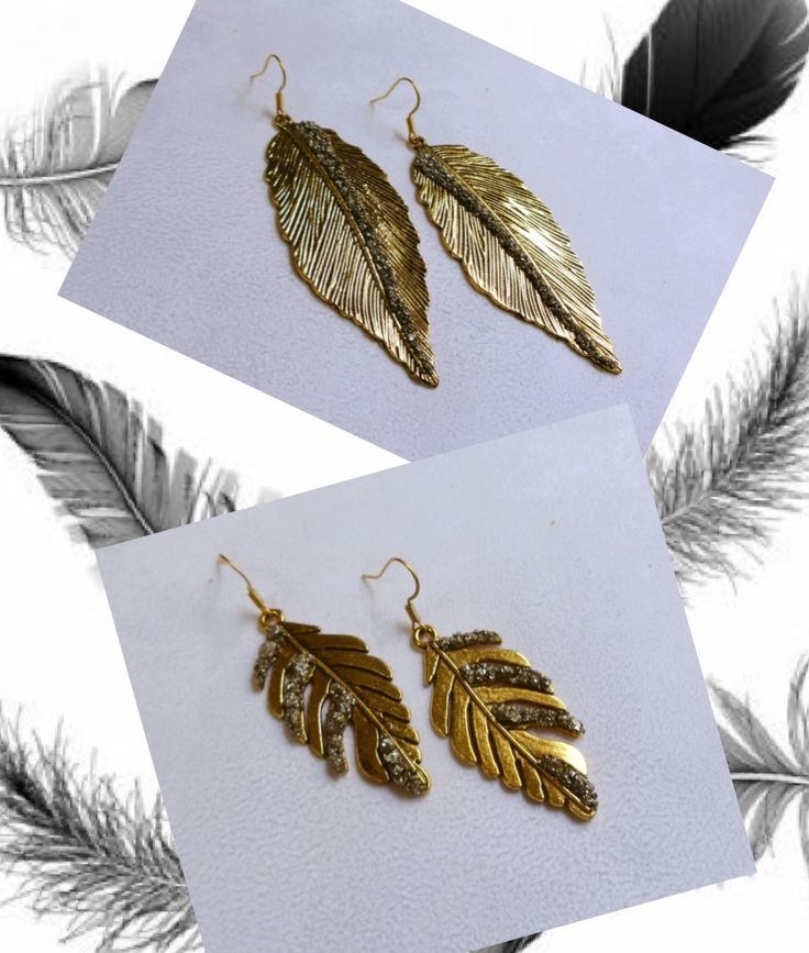 Feathers**Movement**Unique @MarlyMoretti Summer's Collection #uniquefeathers #goldplated #pyrite