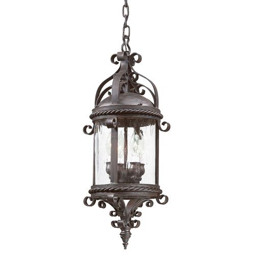 Pamplona Large Four Light Outdoor Pendant Troy Outdoor Pendants Outdoor Hanging Lighting O