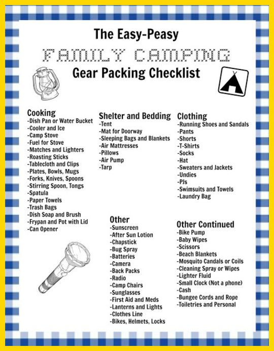 Best Camping Checklist Images On   Camping Tips