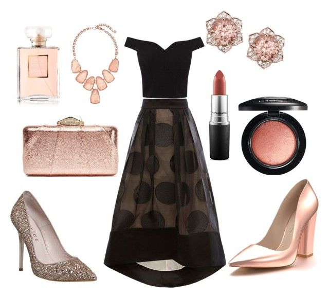 """""""Rose Gold Coast"""" by alex94hall on Polyvore featuring Coast, Shoes of Prey, KOTUR, Kendra Scott, Office, MAC Cosmetics, Chanel, mac and coast"""