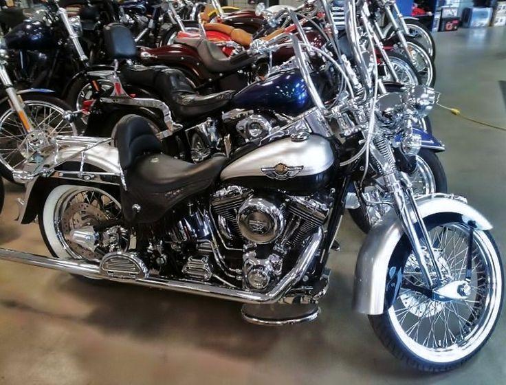 Harley Davidson Custom Apes Fishtail Pipes