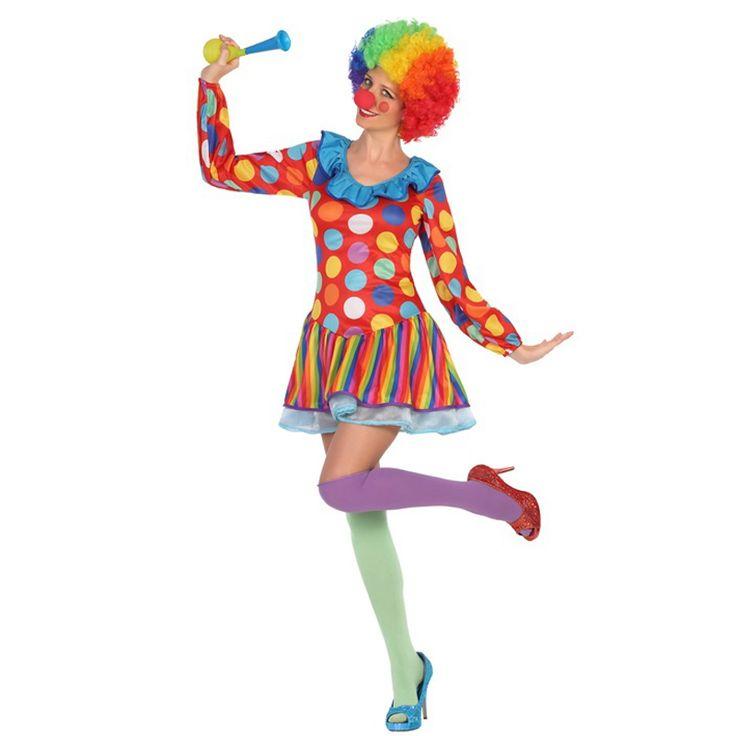 Déguisement Clown Multicolore Femme #déguisementsadultes #costumespouradultes #nouveauté2016
