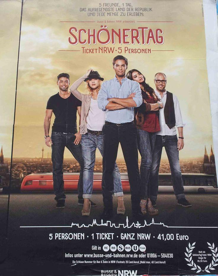 #Flächenplakatierung #Poster #Plakat #Schöner Tag #NRW-Ticket