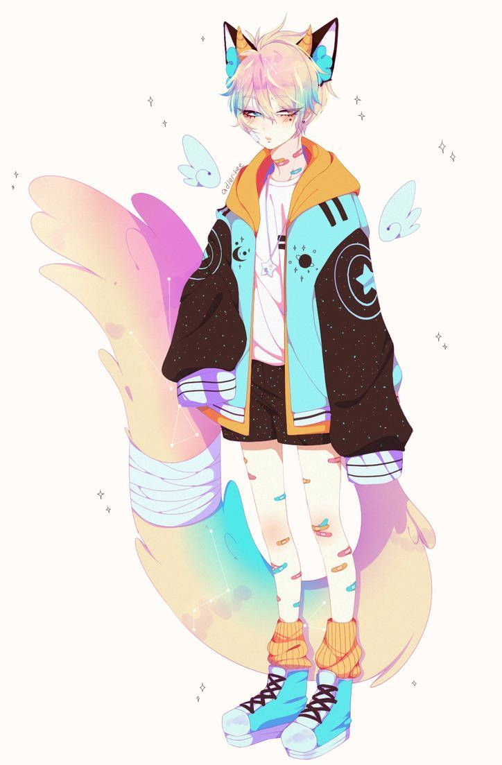 Effect Anime Fox Boy Anime Character Design Cute Anime Character